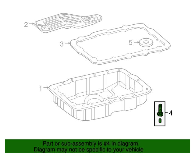 Ford Explorer Mountaineer Automatic Transmission Fluid Pan Drain Plug 5R55S  OEM