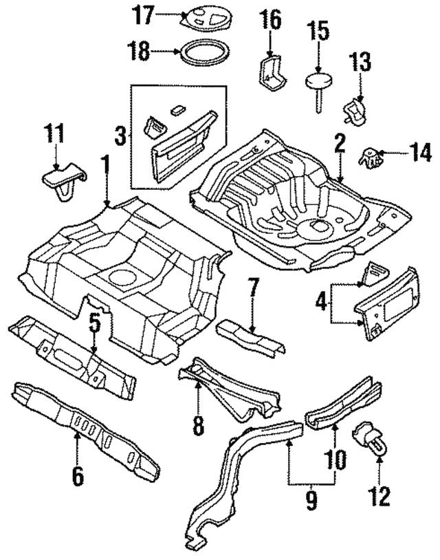 1995 1998 Nissan Maxima Side Member Assembly 75510 40u30