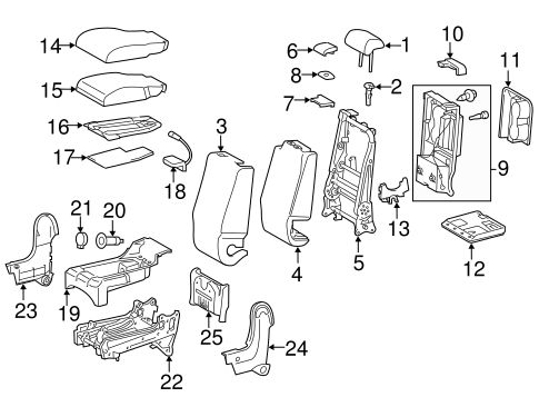 BODY/FRONT SEAT COMPONENTS for 2014 Toyota Tundra #1