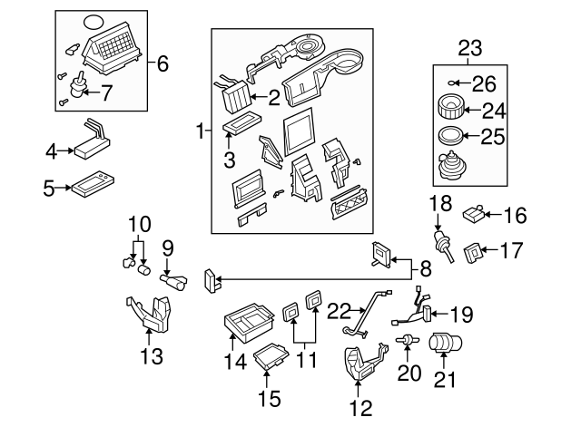 Genuine Ford XR3Z-19A563-AA Air Conditioner Control Valve