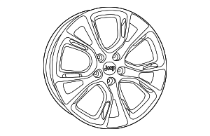 Wheel, Alloy - Mopar (1WB01VXWAB)