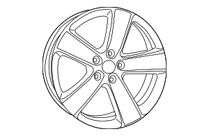 Wheel, Alloy - Mopar (5XL05AAAAA)