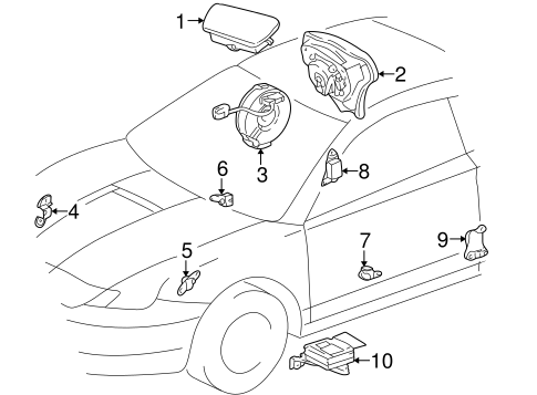 Air Bag Components for 2000 Toyota Celica #1