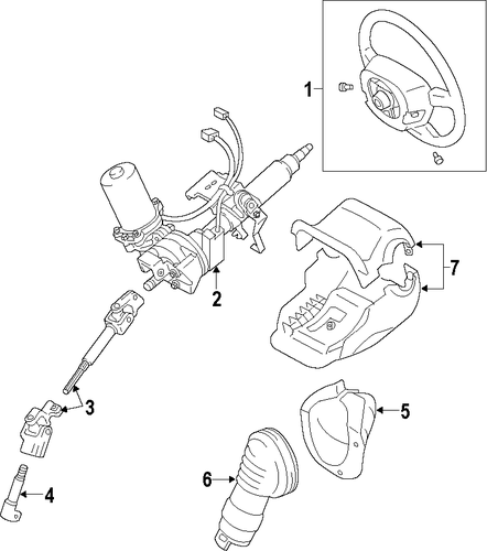STEERING/STEERING COLUMN for 2010 Toyota Prius #1