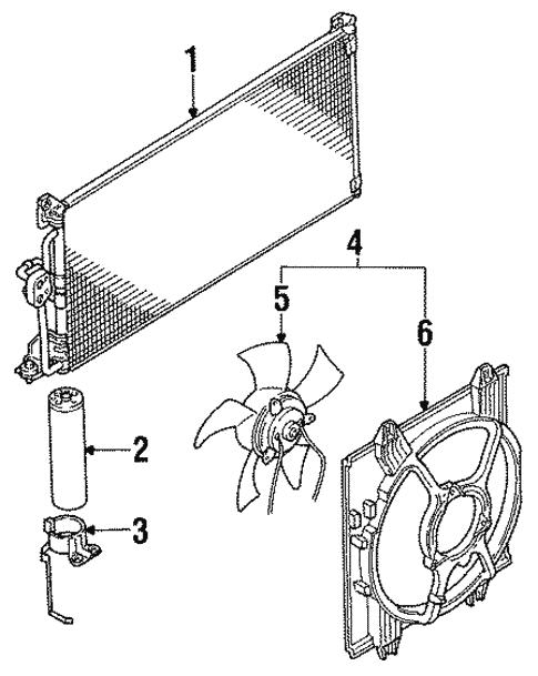 Condenser Compressor Lines For 1999 Mitsubishi 3000gt Vr 4