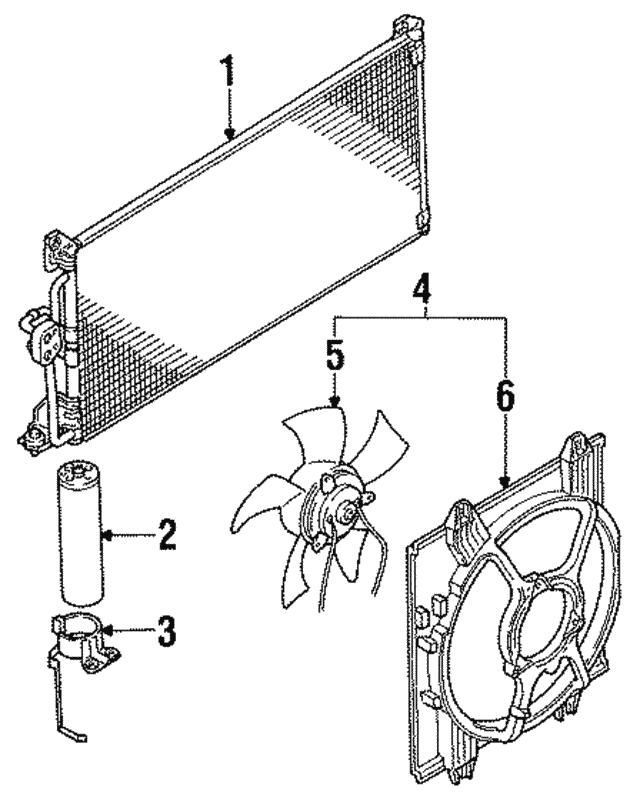 Mitsubishi Fan Shroud Mb630414