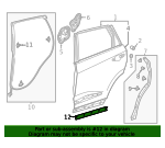 Seal, R Rear Door Side Sill - Acura (72827-TJB-A01)