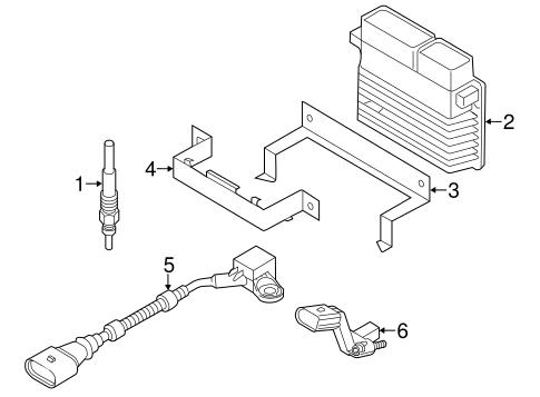 Volkswagen Crankshaft Position Sensor 03c906433e
