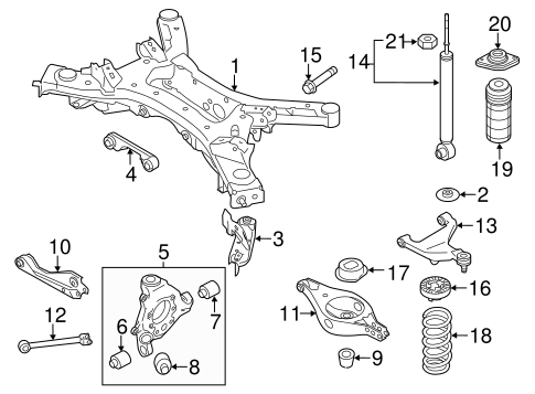 Rear Suspension/Rear Suspension for 2014 Nissan Murano #1