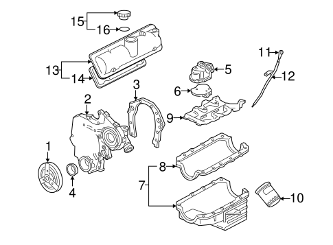 diagram for 2006 chevy uplander engine engine parts for 2006 chevrolet uplander gmpartonline  2006 chevrolet uplander