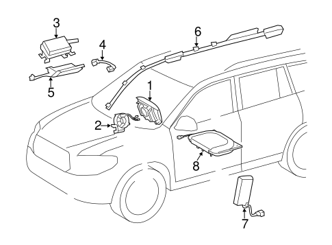 ELECTRICAL/AIR BAG COMPONENTS for 2015 Toyota Highlander #1