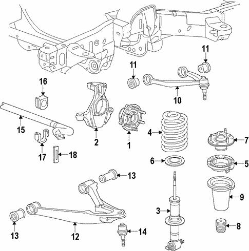 oem 2016 gmc yukon suspension components parts
