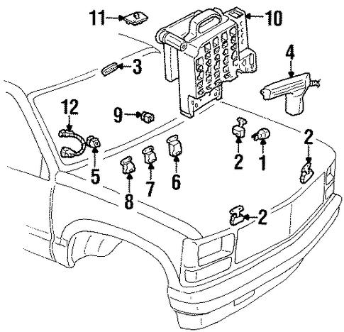 blower motor & fan for 1991 chevrolet k1500 pickup ... 1990 chevy 1500 battery junction block wiring diagram