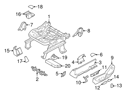 Body/Tracks & Components for 2013 Ford Escape #1