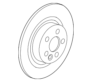 Disc Brake Rotor - Jaguar (T4N1744)