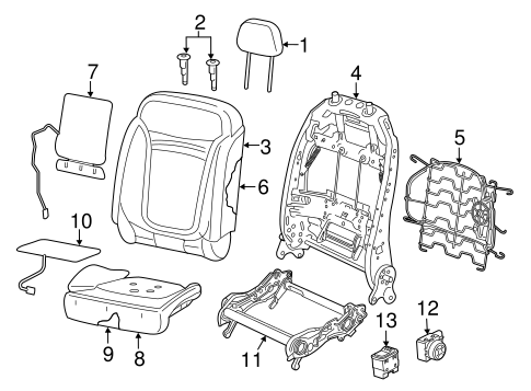 Front Seat Components For 2015 Jeep Renegade