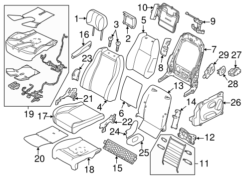 passenger seat ponents for 2016 land rover range rover land Ford Ranger Tailgate Parts Diagram passenger seat ponents for 2016 land rover range rover 1