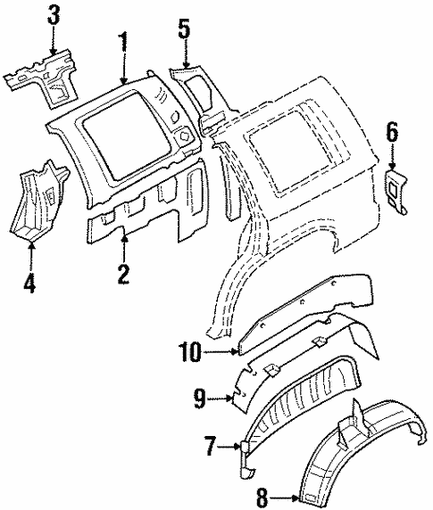 Inner Structure for 1995 Isuzu Trooper #0
