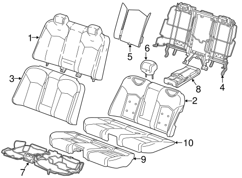 Rear Seat Components For 2016 Cadillac Ct6