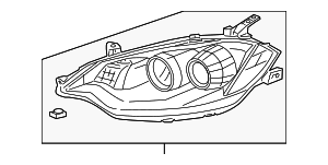 Headlight Unit, L - Acura (33151-STK-A01)