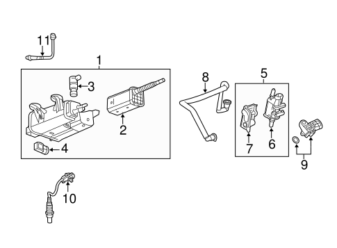 emission components for 2010 gmc terrain