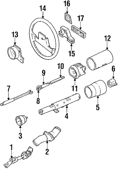 cadillac eldorado steering diagram wiring diagram data Deville 01 Steering Wheel Diagram oem 1989 cadillac eldorado steering column wheel parts gm parts club cadillac cts cadillac eldorado steering diagram