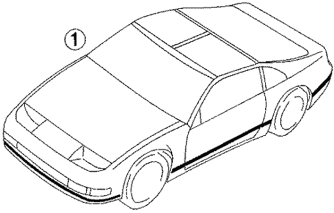 Stripe Tape for 1996 Nissan 300ZX   Crest Nissan Parts