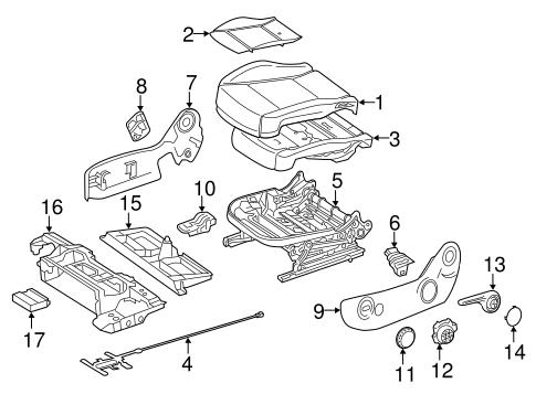 Passenger Seat Components For 2018 Mercedes Benz Metris