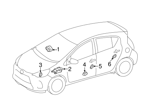 ELECTRICAL/AIR BAG COMPONENTS for 2014 Toyota Prius C #2