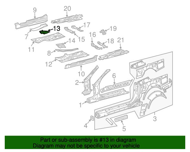 Reinforcement mercedes benz 230 616 12 16 for Mercedes benz oem replacement parts