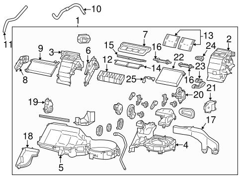 Evaporator Heater Components For 2018 Subaru Brz