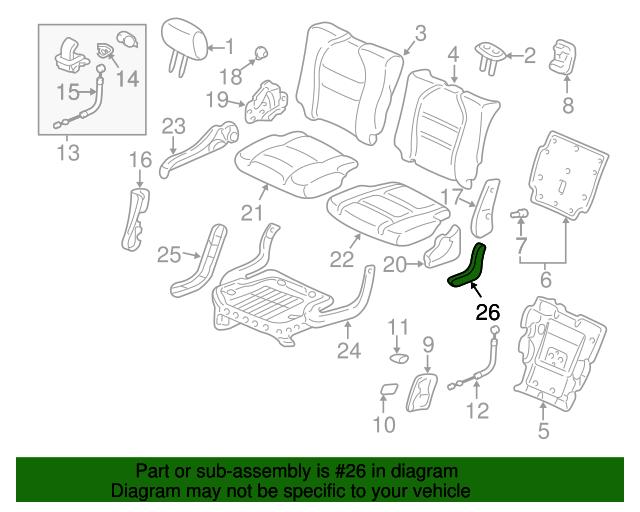 Honda Genuine 81759-S3V-A11ZD Seat Cover