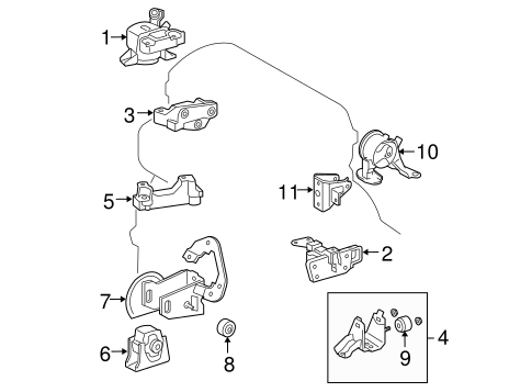 [SCHEMATICS_49CH]  Engine & Trans Mounting for 2007 Toyota RAV4 | Toyota Parts | 2007 Toyota Rav4 Engine Diagram |  | Toyota Parts - McGeorge Toyota