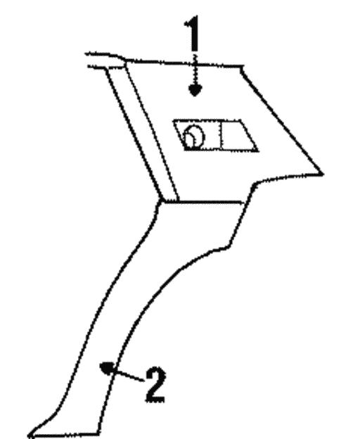 oem 1987 cadillac brougham interior trim
