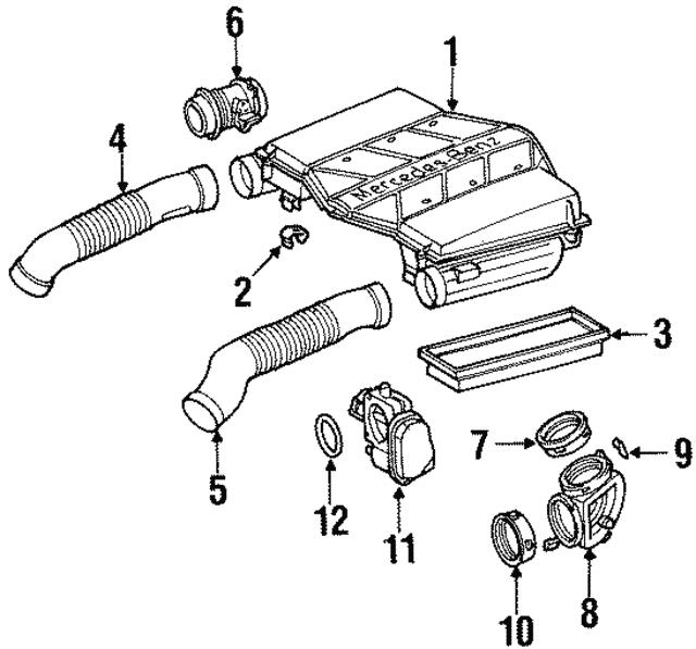1998 2003 mercedes benz throttle body 113 141 00 25 benz parts for 2004 CLK 430 AMG throttle body mercedes benz 113 141 00 25