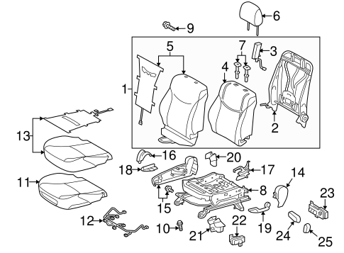 TOYOTA Genuine 71862-47040-B0 Seat Cushion Shield