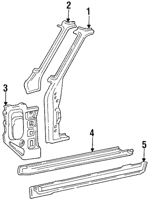 Body/Rocker for 1989 Toyota Land Cruiser #1