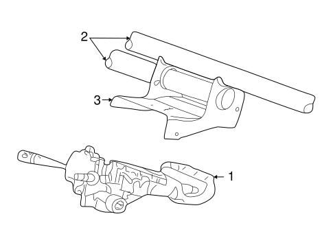 Steering Column Assembly For 2000 Dodge Intrepid