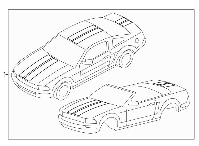 Genuine Ford 7R3Z-6320001-RC Stripe Decal
