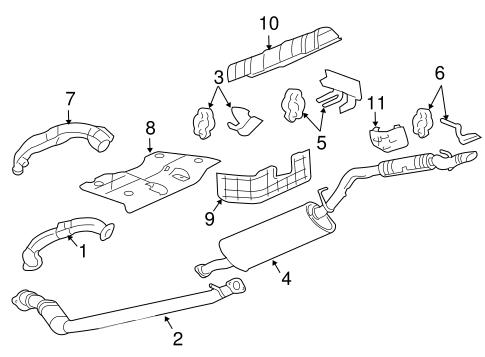 exhaust components for 2006 pontiac montana sv6. Black Bedroom Furniture Sets. Home Design Ideas