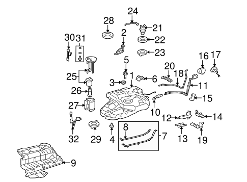 FUEL SYSTEM/FUEL SYSTEM COMPONENTS for 2008 Toyota Highlander #1