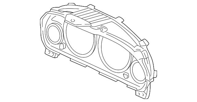 2001 2005 Honda Visor 78155 S5l M11