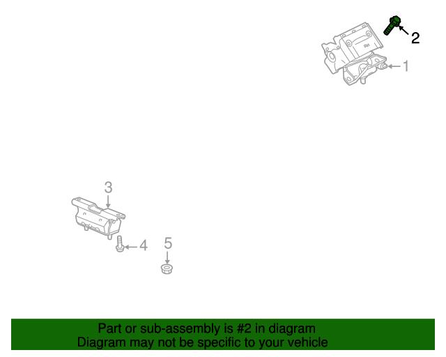 GM OEM Engine Motor Transmission-Motor Mount Bolt 11609475