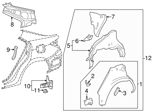 BODY/INNER STRUCTURE for 2015 Toyota Corolla #1