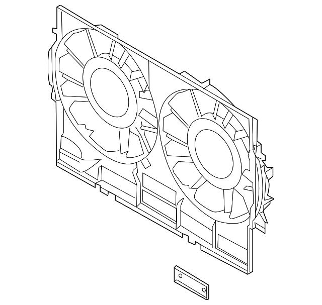 2011 2018 Audi Fan Shroud 4h0 121 207 C