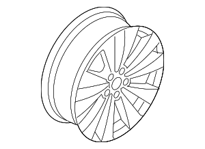 Wheel, Alloy - Volkswagen (3C8-601-025-A-8Z8)