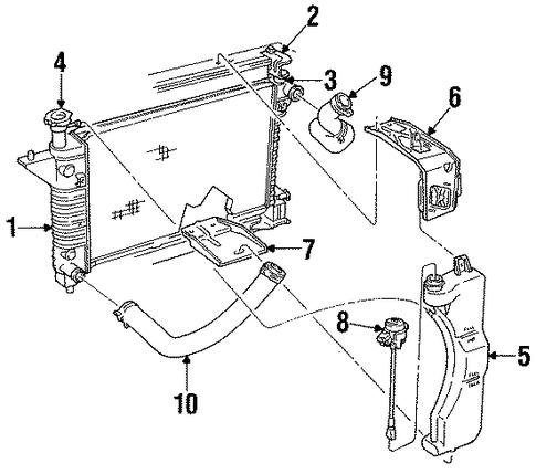 radiator components for 1995 ford mustang. Black Bedroom Furniture Sets. Home Design Ideas