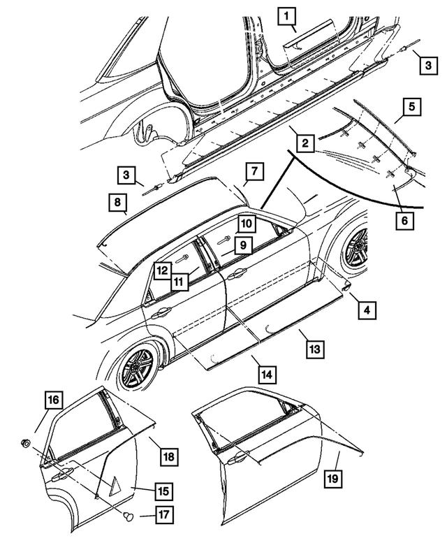 2006-2010 Chrysler Dodge OEM Left Right Push In Pin 4860379AA