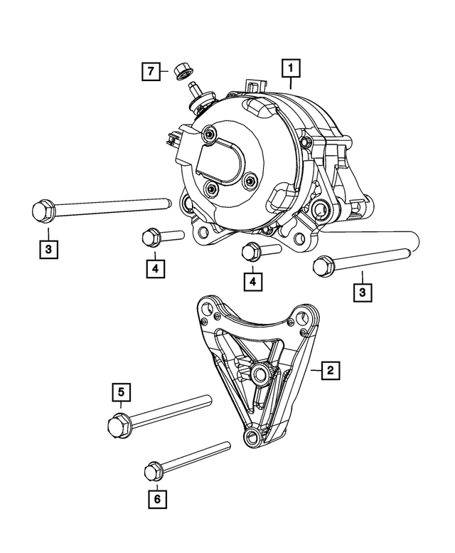 Alternator Bracket - Mopar (4627047AA)
