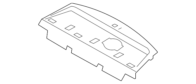 Right Genuine Hyundai 85860-0A000-QD Pillar Trim Assembly Rear
